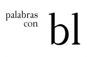 Palabras con bl