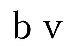 Letras b y v