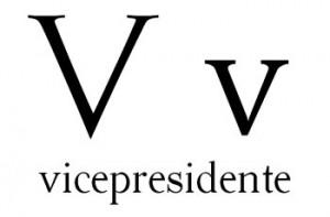 Vicepresidente es una palabra que inicia con V.