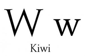 Kiwi es una palabra que se escribe con w
