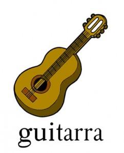 Guitarra, palabra con gui