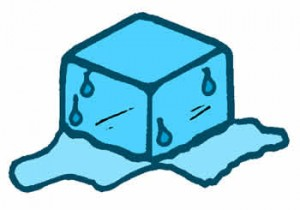 Dibujo de hielo derritiéndose