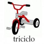 Triciclo, palabra con tr
